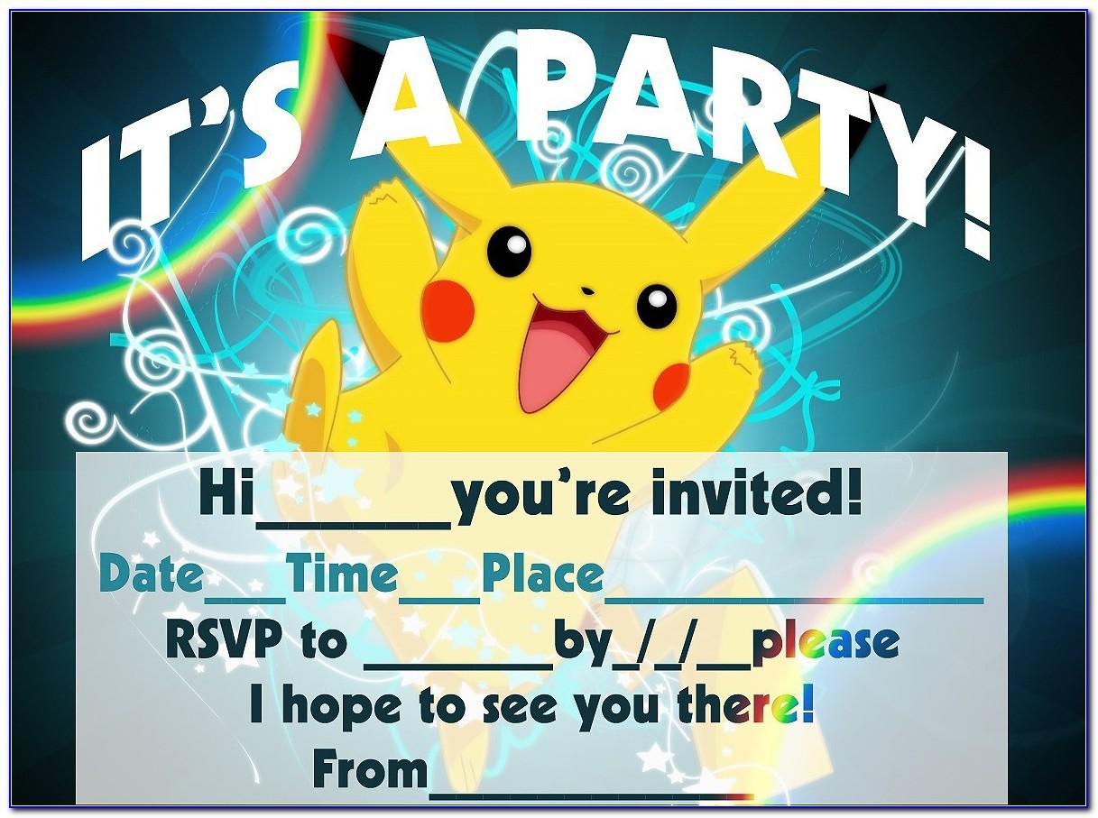 Pokemon Invitation Template Download