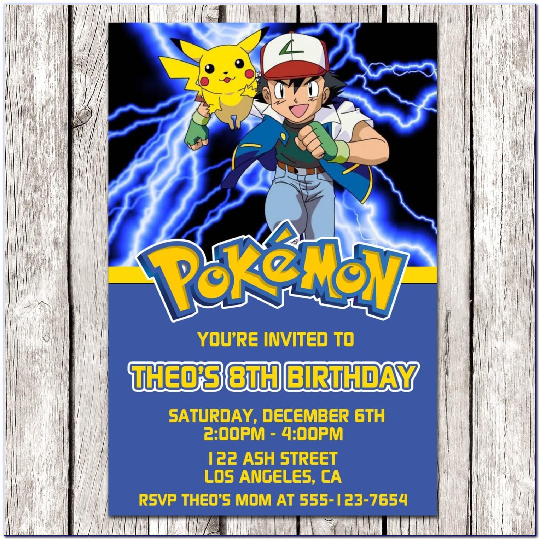 Pokemon Party Invitation Template