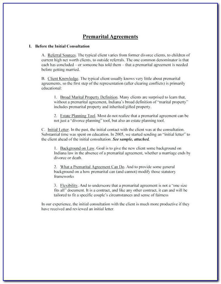 Post Nuptial Agreement Template Texas