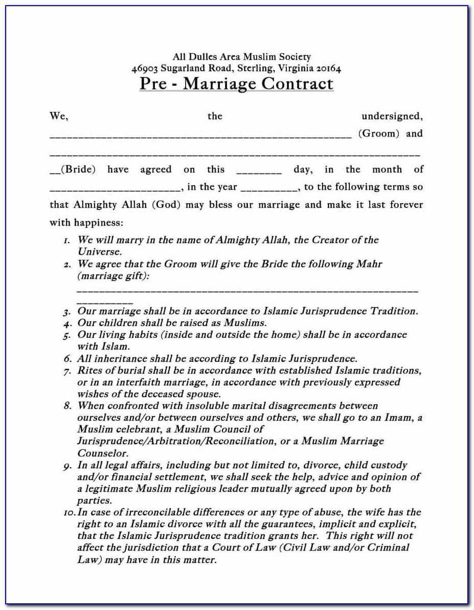 Postnuptial Agreement Template California