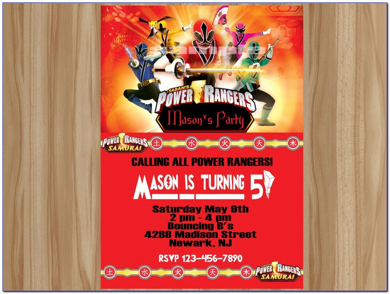 Power Ranger Birthday Invitation Template