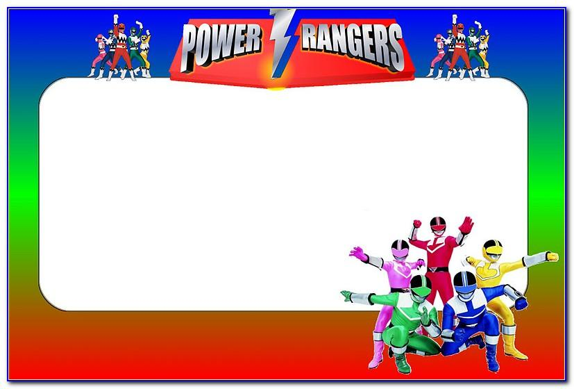 Power Ranger Invitations Template
