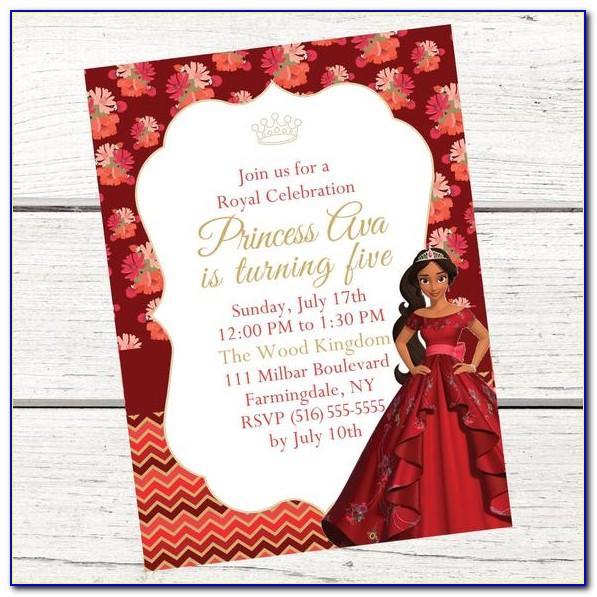 Princess Elena Of Avalor Invitation Template