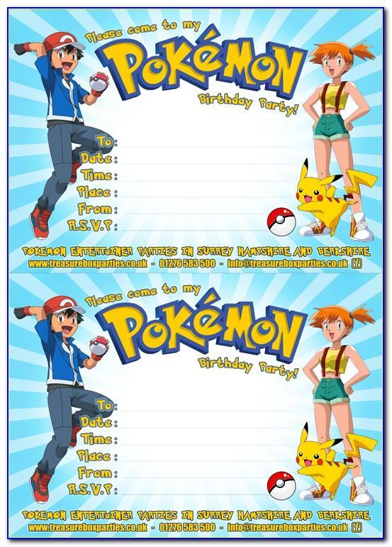 Printable Pokemon Invitation Template
