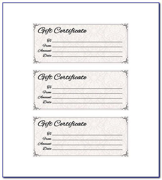 Printable Restaurant Gift Certificate Template