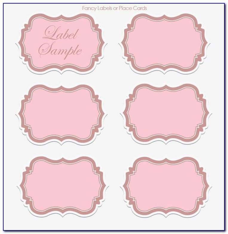 Printable Wedding Label Templates Free