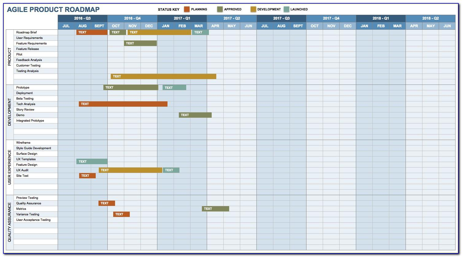 Product Roadmap Template Excel Free