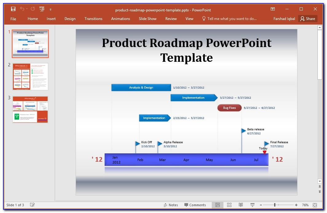 Product Roadmap Template Powerpoint Download