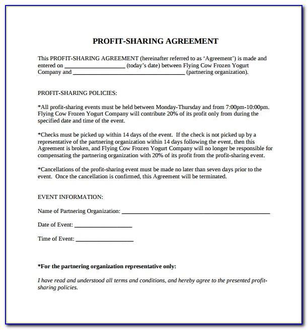 Profit Sharing Agreement Templates