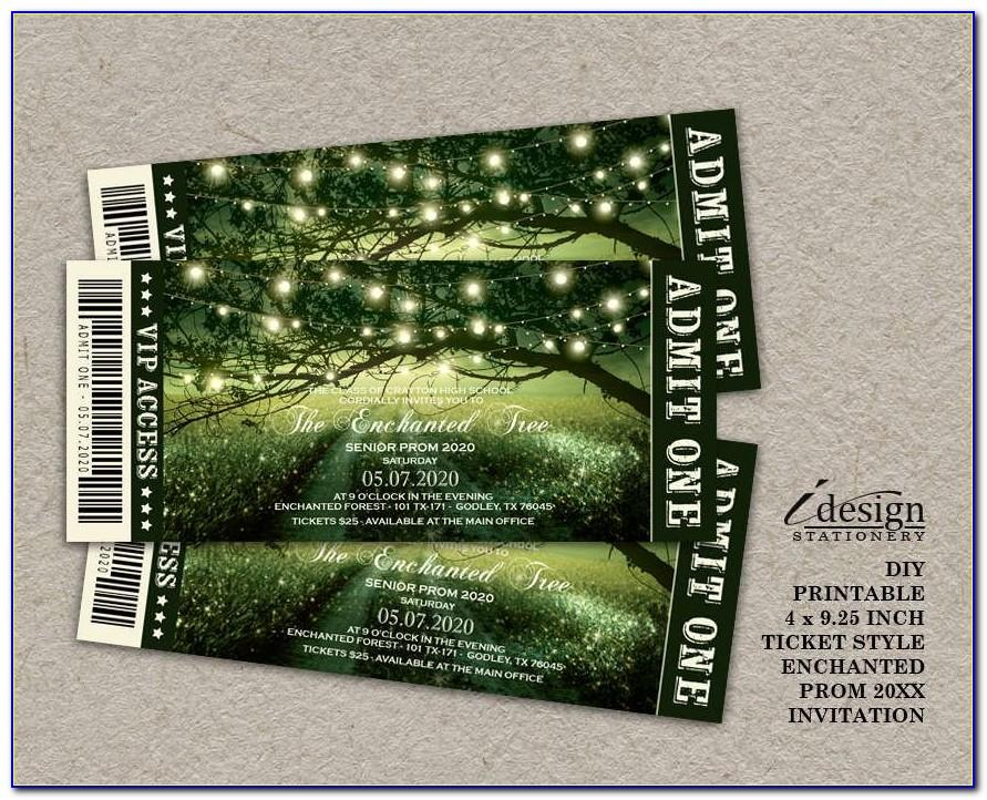 Prom Ticket Samples