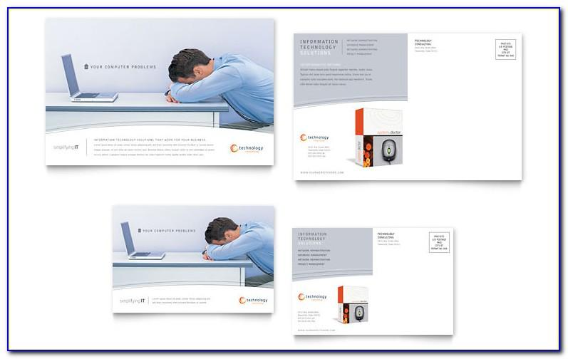 Publisher Blank Postcard Template