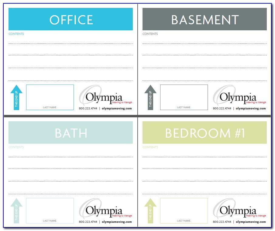 Quill Label Templates 1 X 4