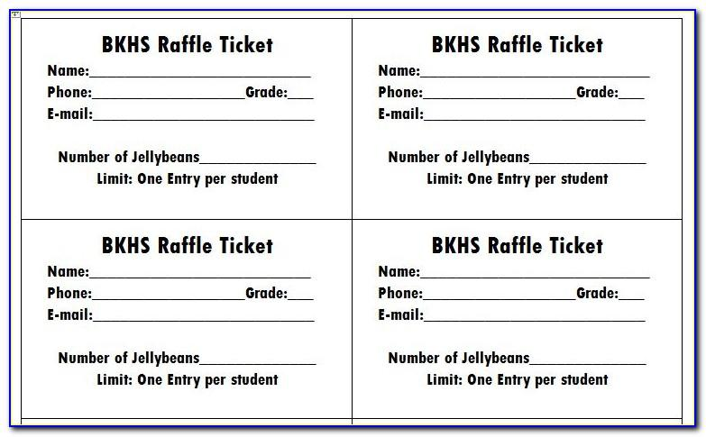 Raffle Tickets Printable Word