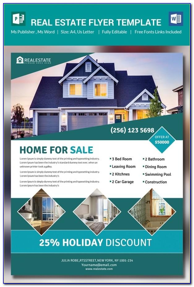 Real Estate Flyer Template Publisher Free
