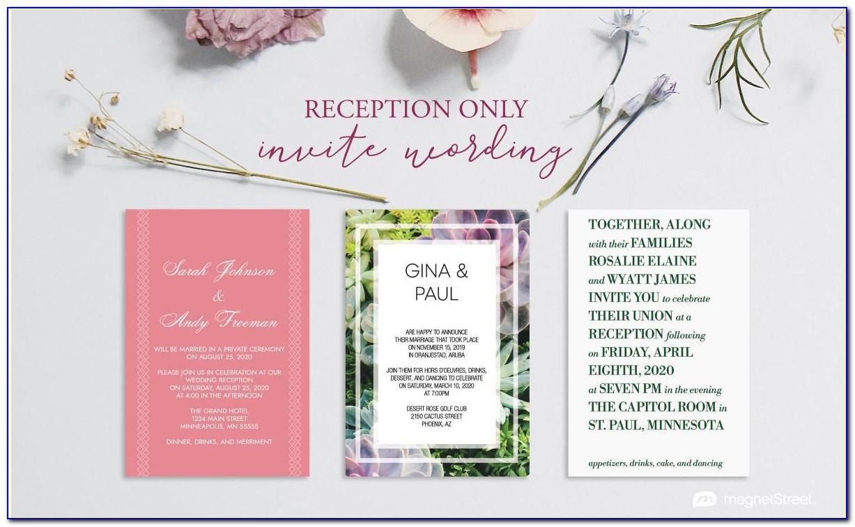 Reception Invitation Samples