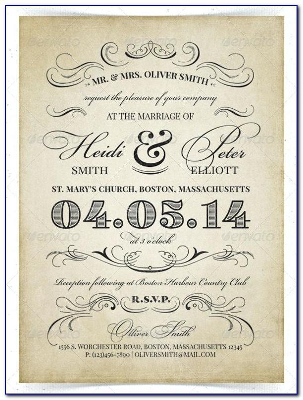 Reception Invitation Template Free