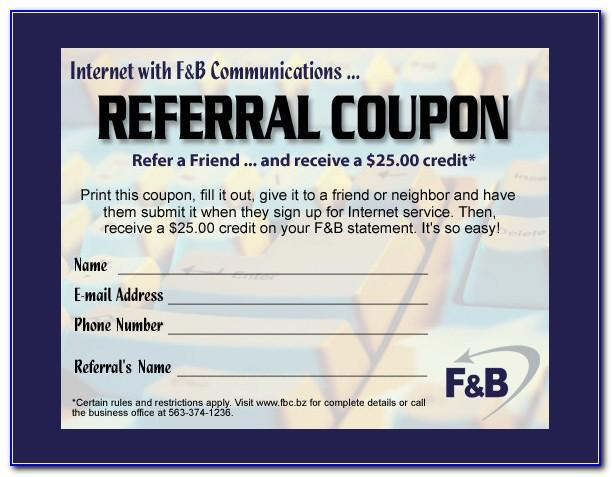 Referral Card Template Free