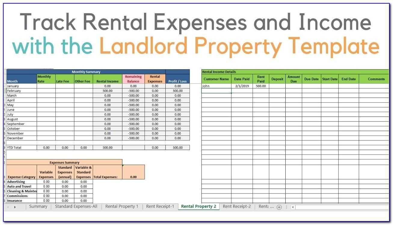 Rental Property Management Spreadsheet Template