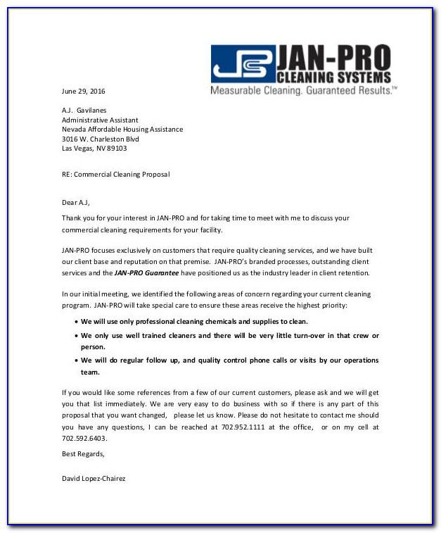Residential Cleaning Proposal Template Pdf