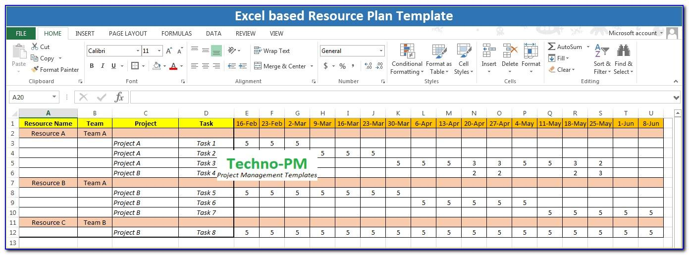 Resource Planning Template Excel Free Download