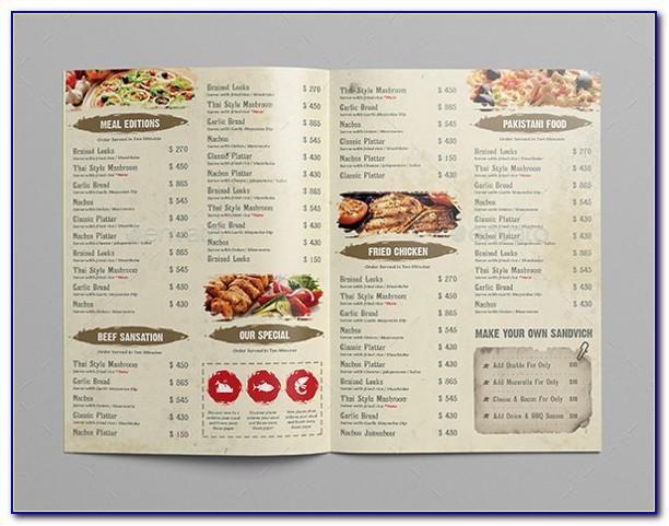 Restaurant Menu Design Templates Word