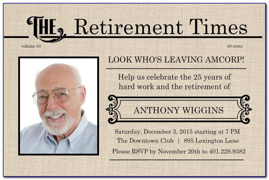 Retirement Invitation Templates Free Download
