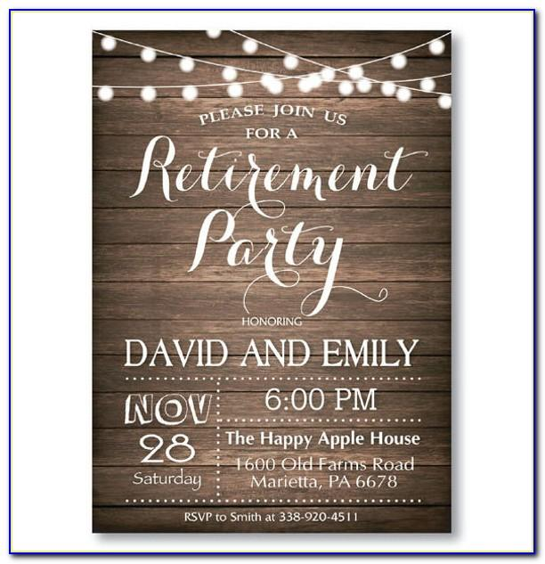 Retirement Invitation Templates Free Printable