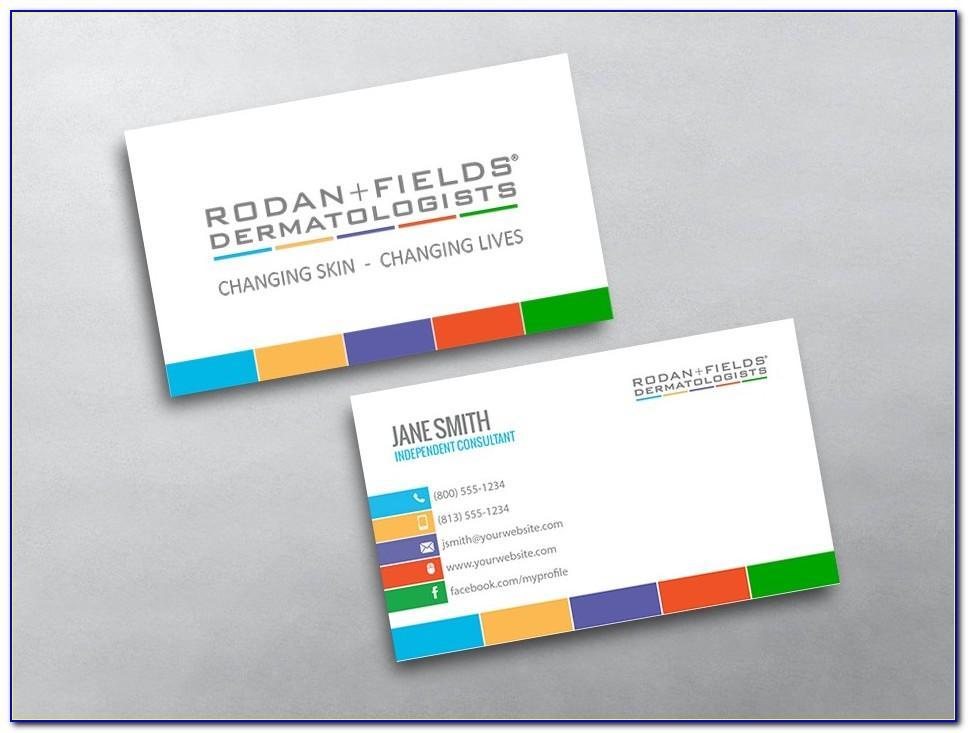Rodan And Fields Business Card Template