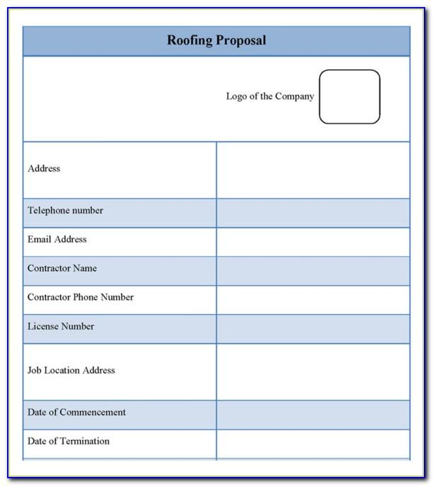 Roofing Proposal Template Free