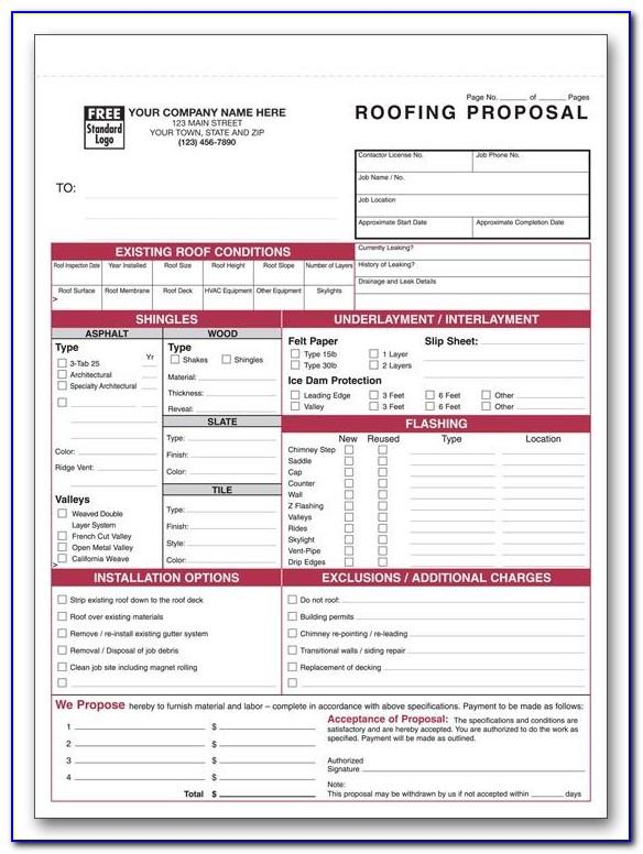Roofing Proposal Template Pdf