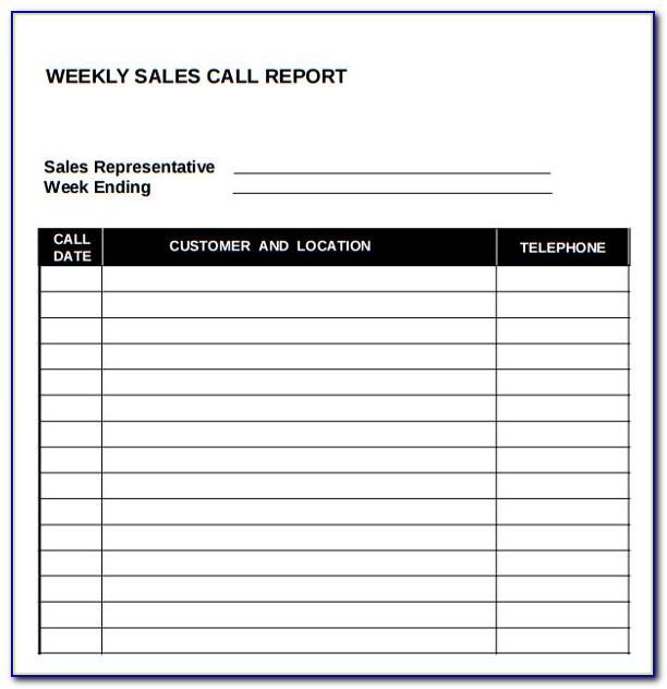 Sales Call Report Format