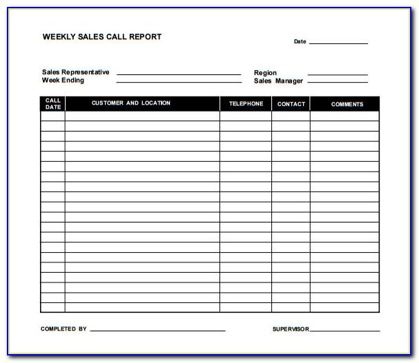 Sales Call Report Templates