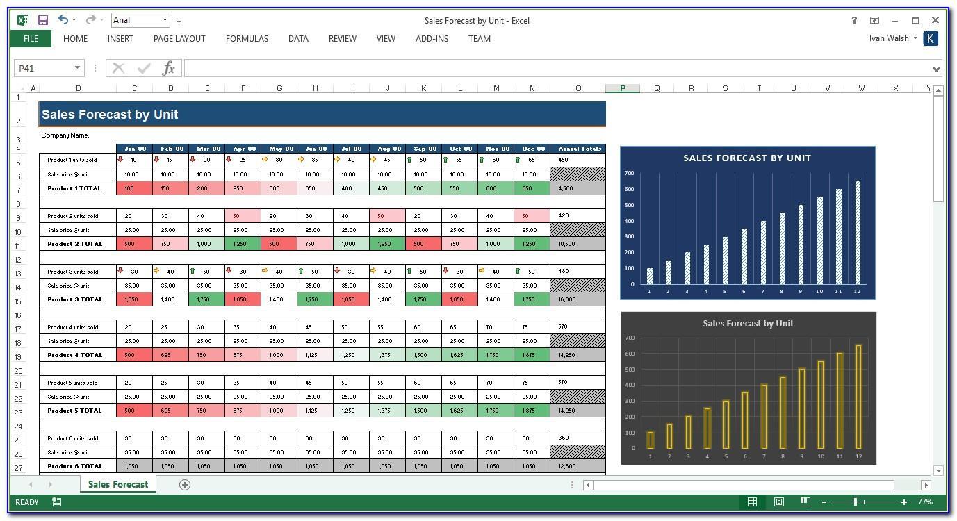 Sales Forecast Sample Excel