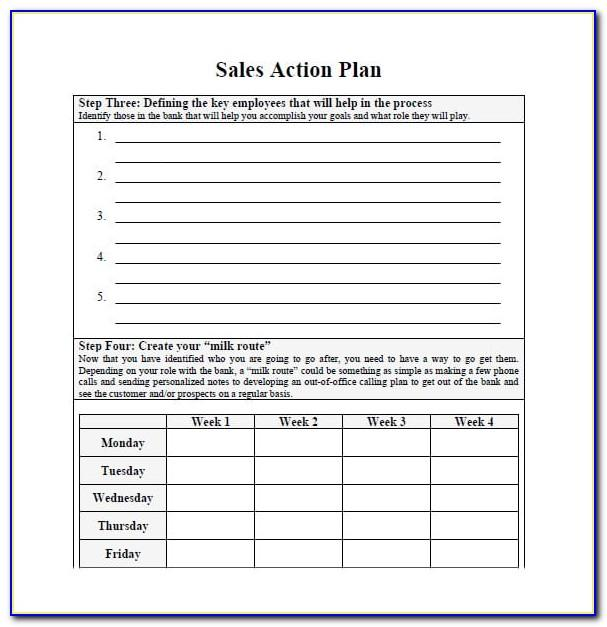 Sales Plan Template Word Free