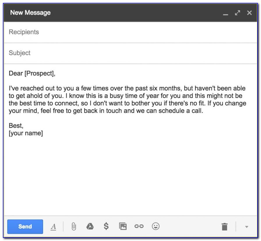 Sales Prospecting Email Template