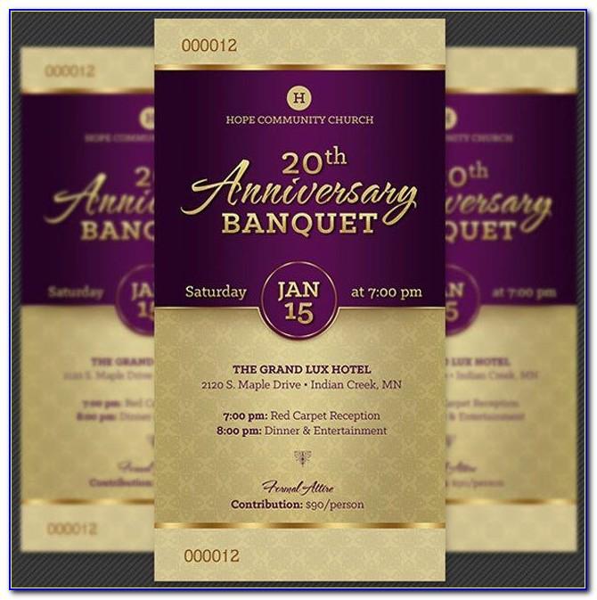 Sample Church Anniversary Program Template