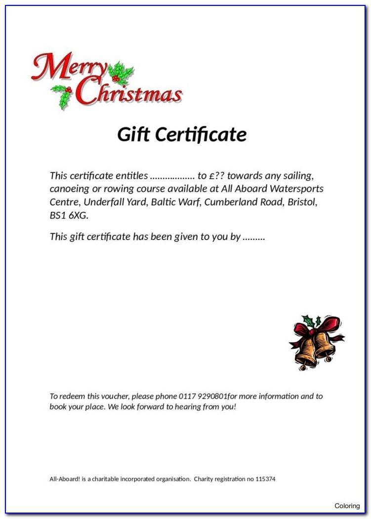 Sample Restaurant Gift Certificate Templates