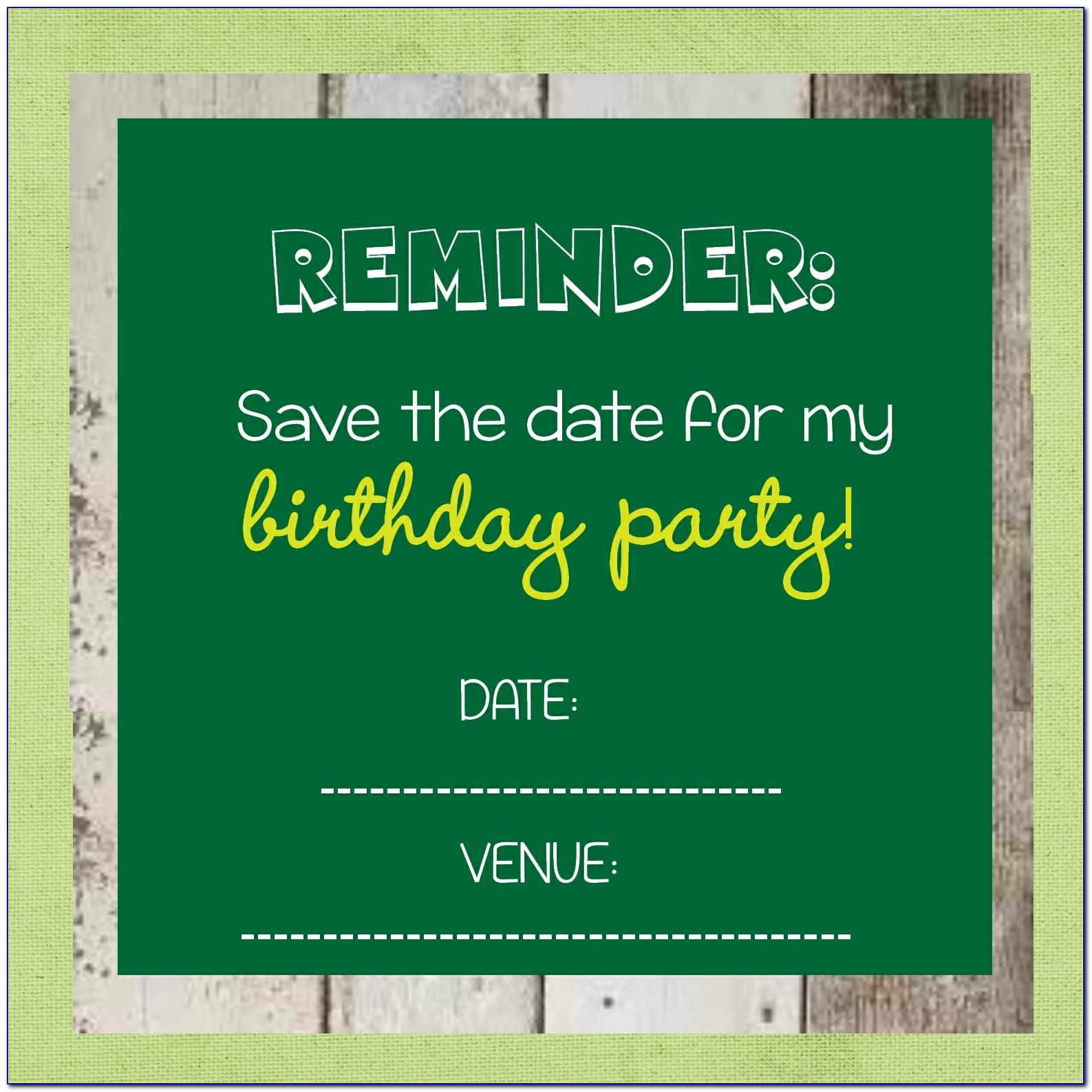 Save The Date Birthday Templates Free Download