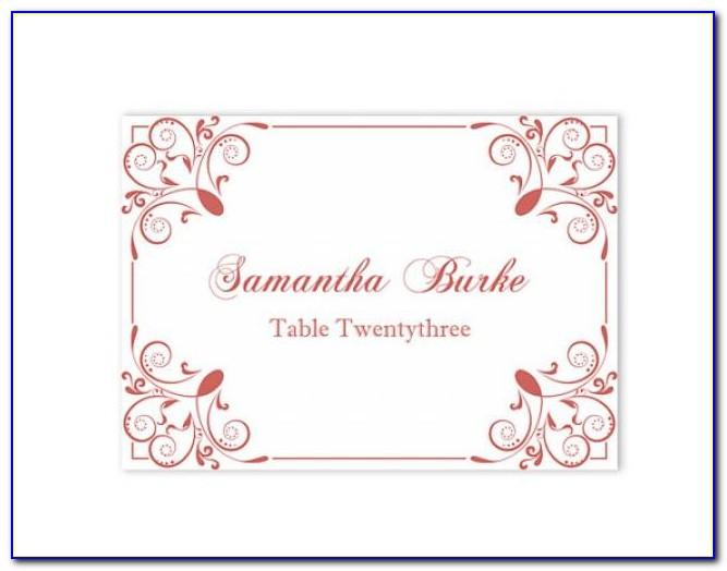 Seating Place Card Template