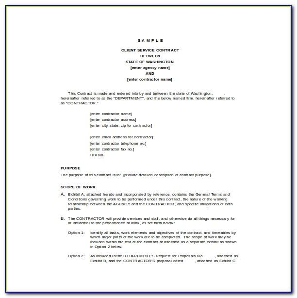 Service Agreement Template Word Uk