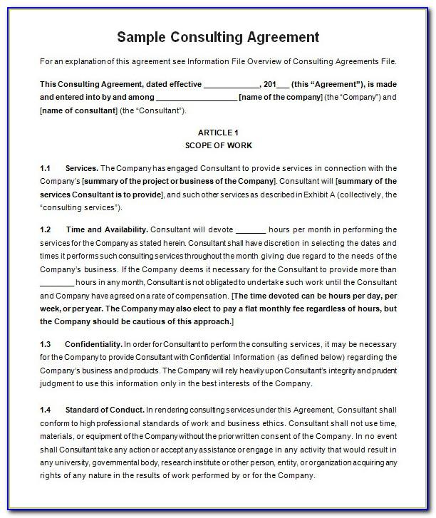 Simple Consulting Agreement Template Australia