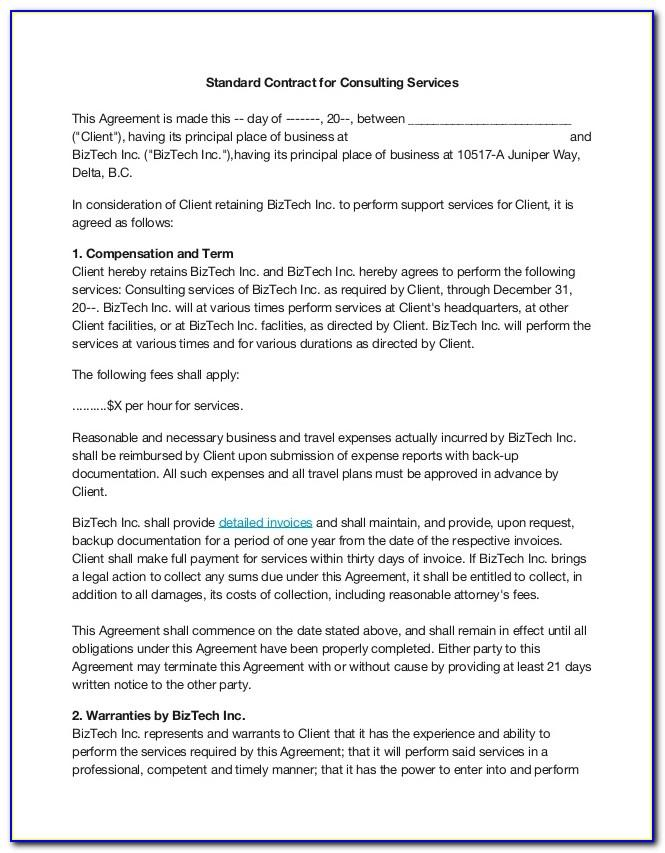 Simple Consulting Agreement Template India