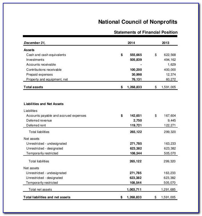Simple Financial Statement Template Xls