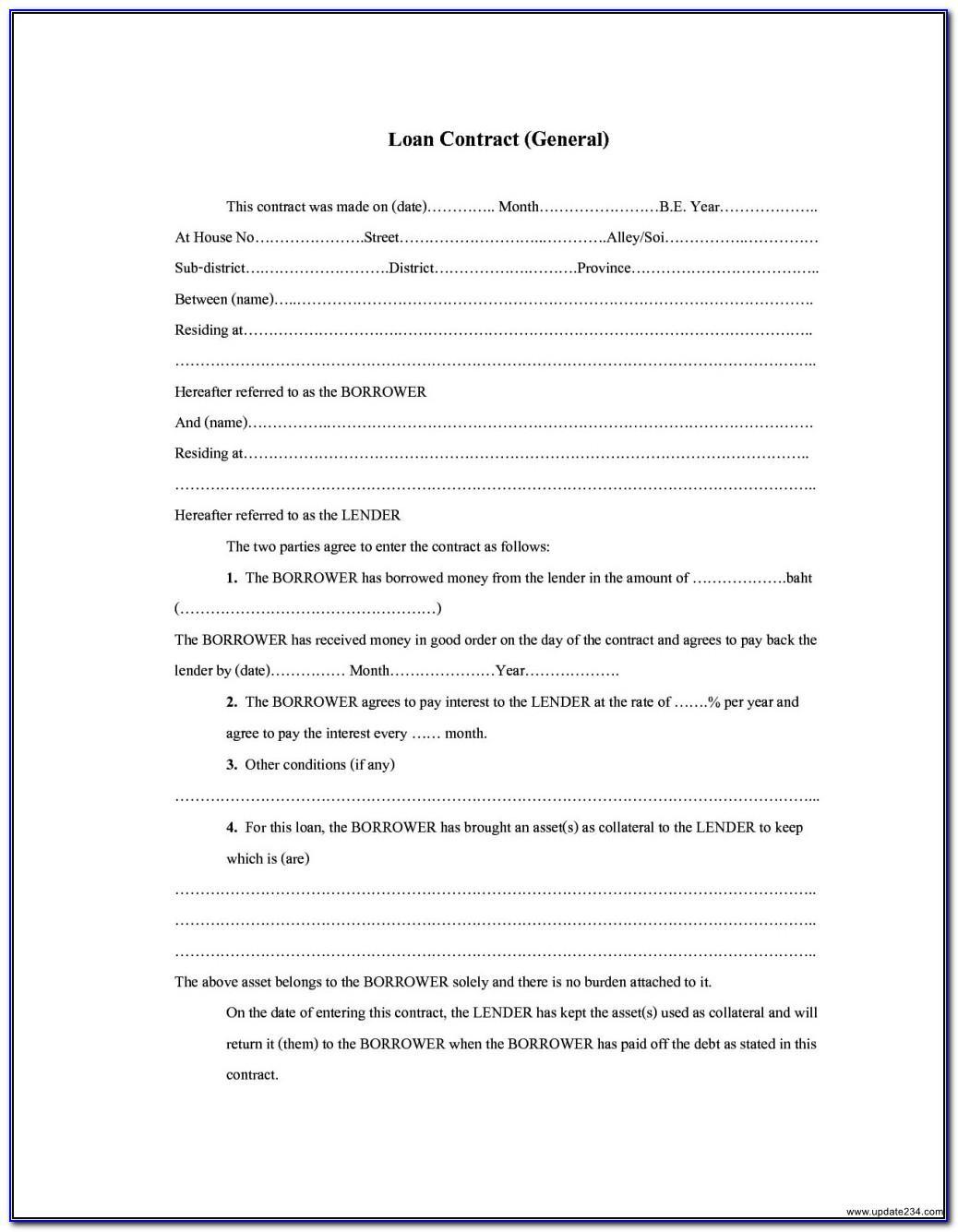 Simple Loan Agreement Template Australia