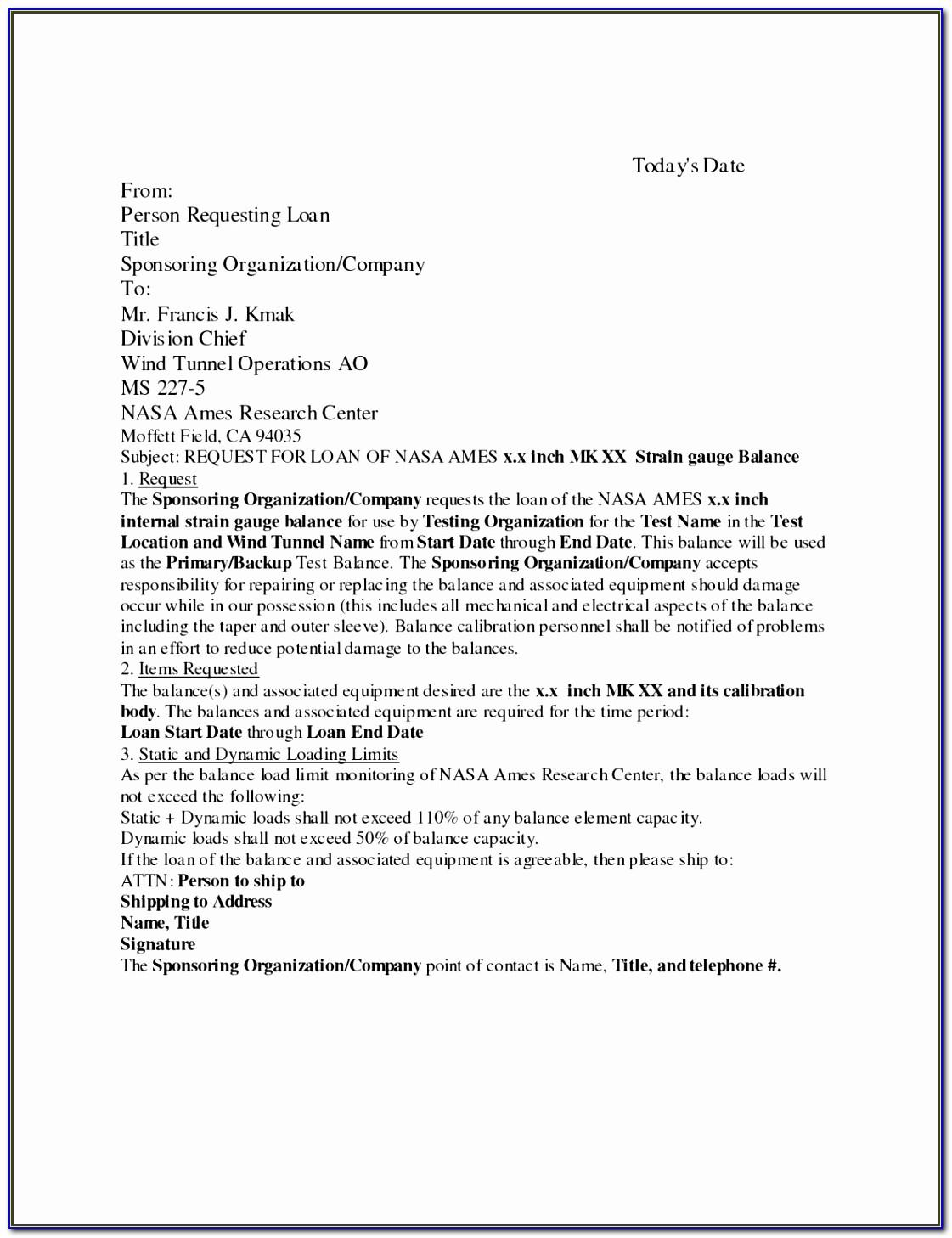 Simple Loan Agreement Template Doc