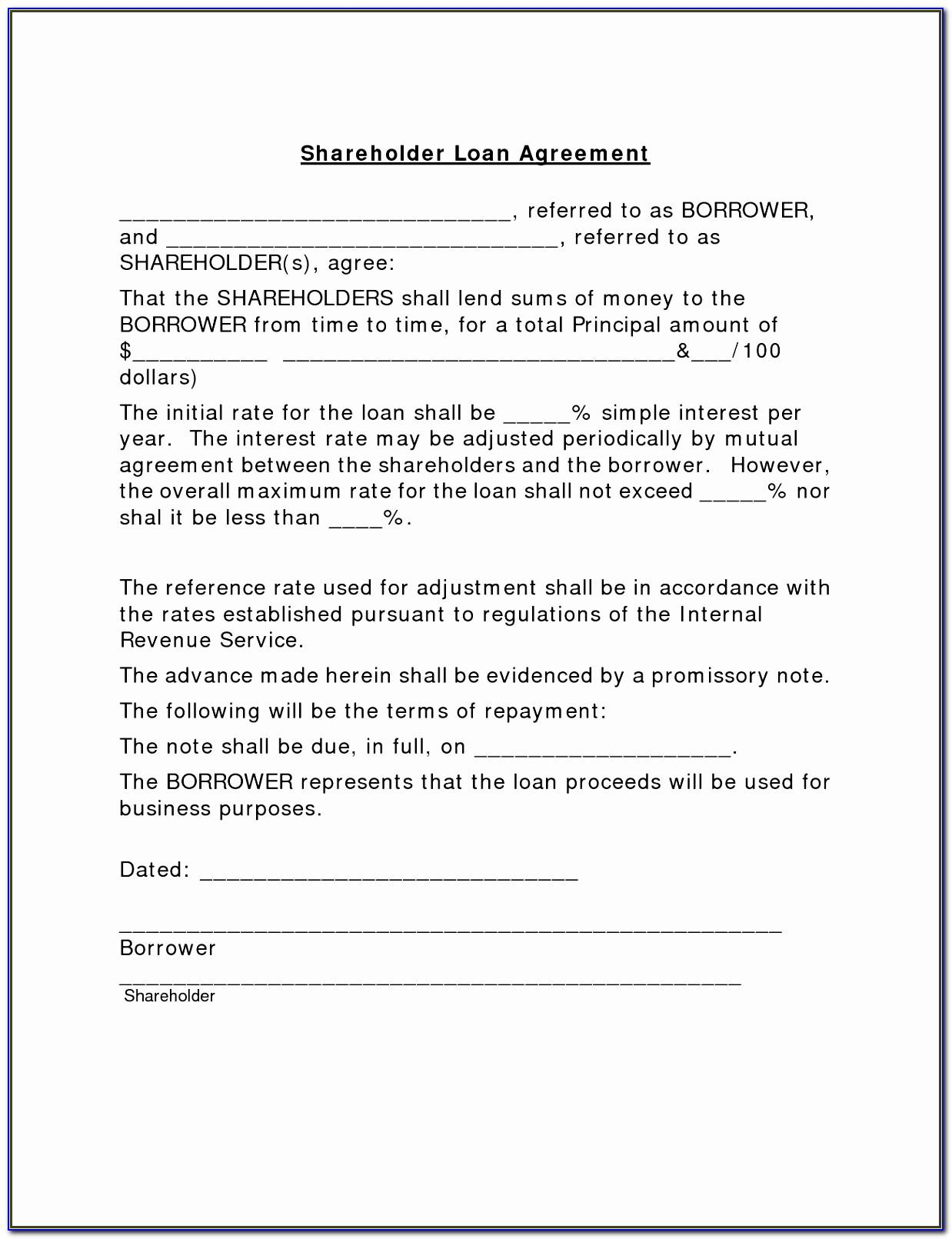 Simple Loan Agreement Template Nz