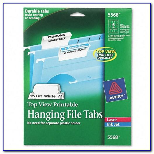 Smead Hanging File Folders Tab Template