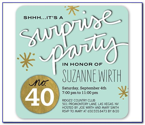 Surprise Party Invitation Template Free