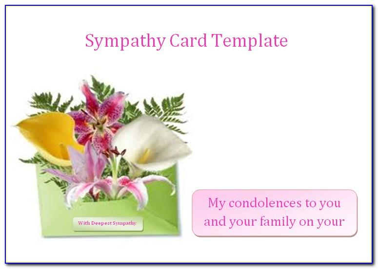 Sympathy Card Template Publisher