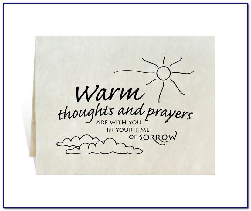 Sympathy Flower Card Template